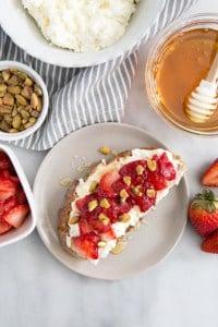 Strawberry Ricotta Toast