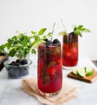 Blackberry Bourbon Fizz | the little epicurean