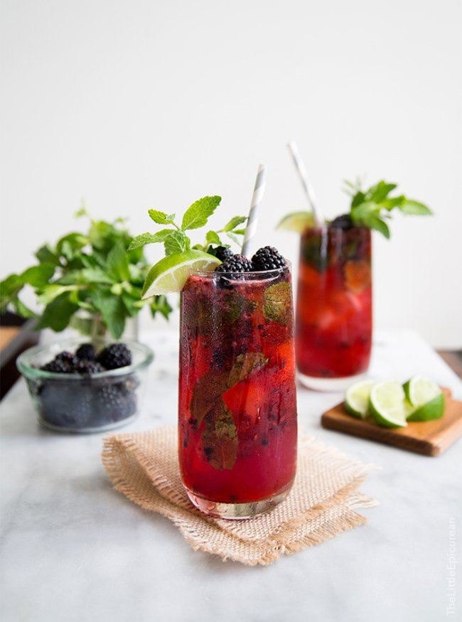 Blackberry Bourbon Smash | the little epicurean