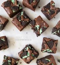 Mint Oreo Brownies | the little epicurean
