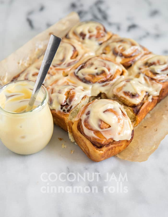 Coconut Jam Cinnamon Rolls | the little epicurean