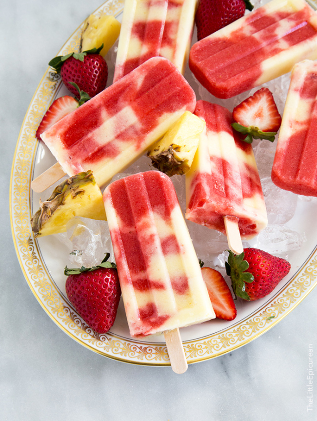 Lava Flow Popsicles | the little epicurean