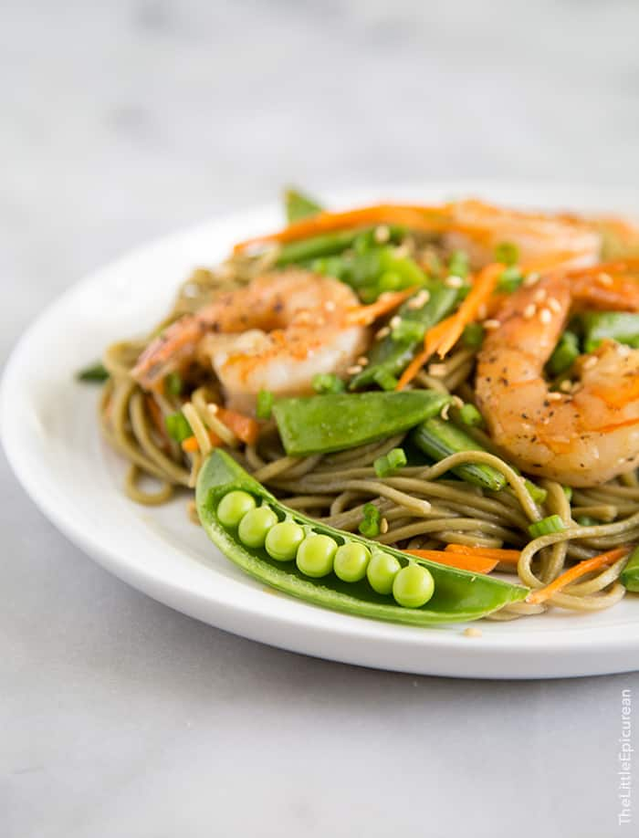 Soba Noodles with Shrimp- The Little Epicurean