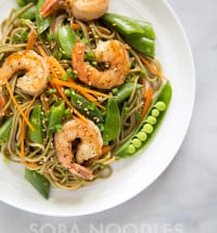 Soba Noodles with Shrimp and Snap Peas   the little epicurean