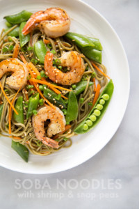 Soba Noodles with Shrimp and Snap Peas | the little epicurean