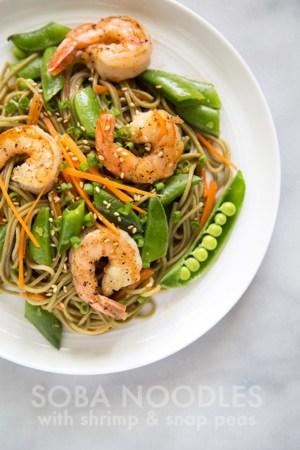 Soba Noodles with Shrimp and Snap Peas | the little epicurean