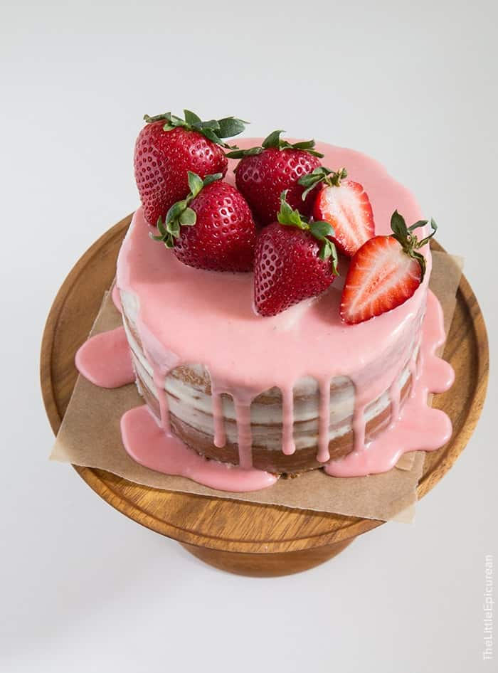strawberry vanilla cake the little epicurean