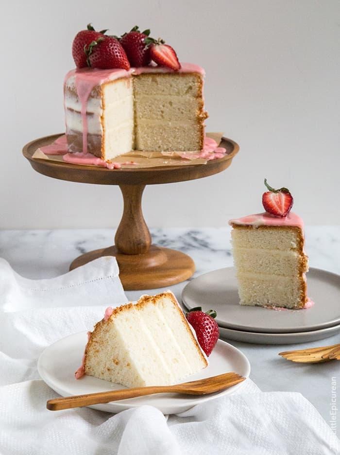Strawberry Vanilla Cake | the little epicurean