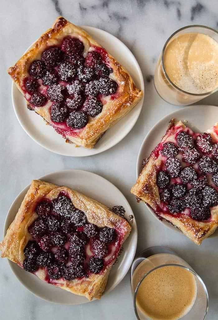 Blackberry Cream Cheese Pastries | the little epicurean