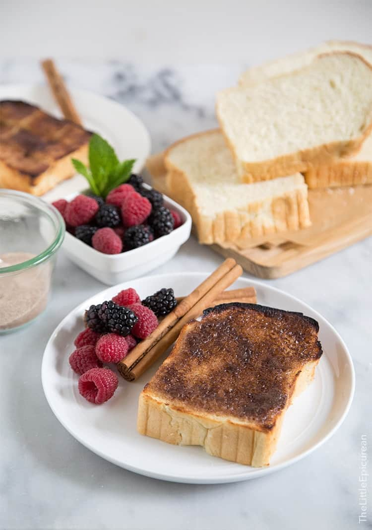 Cinnamon Sugar Milk Bread Toast | the little epicurean