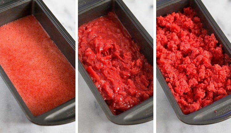Strawberry Basil Granita | the little epicurean