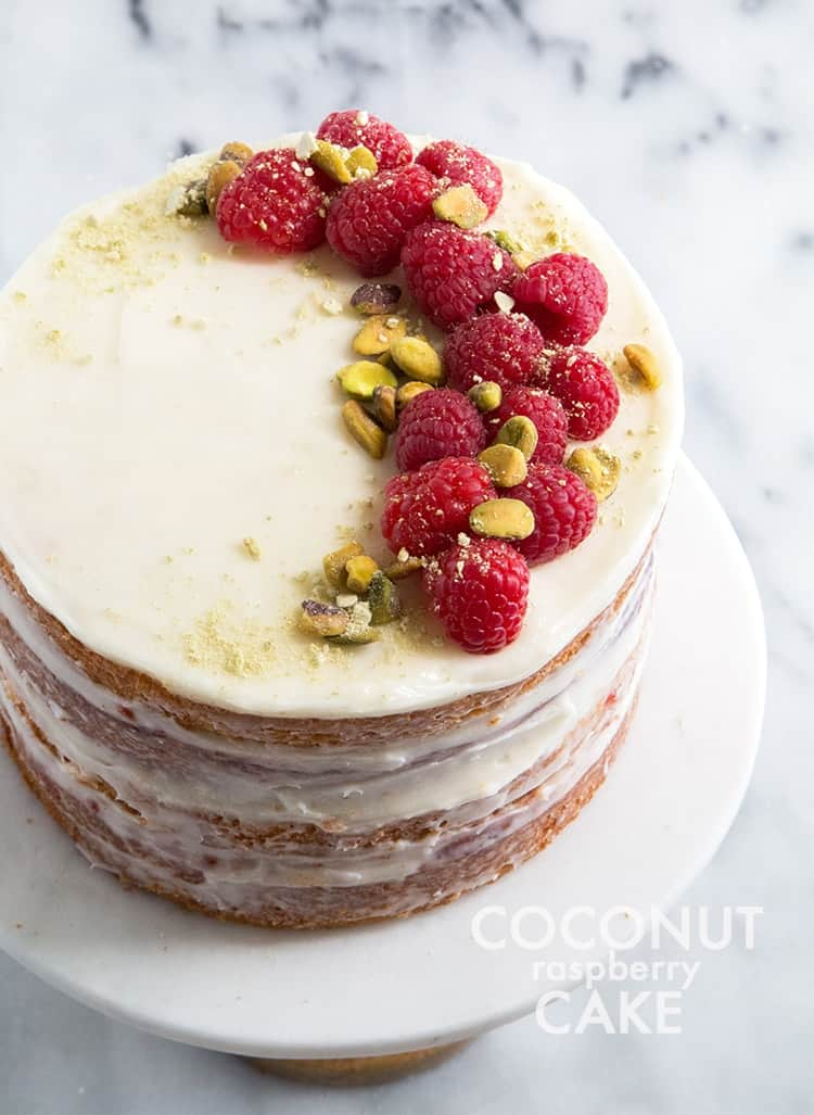 Coconut Raspberry Cake | the little epicurean