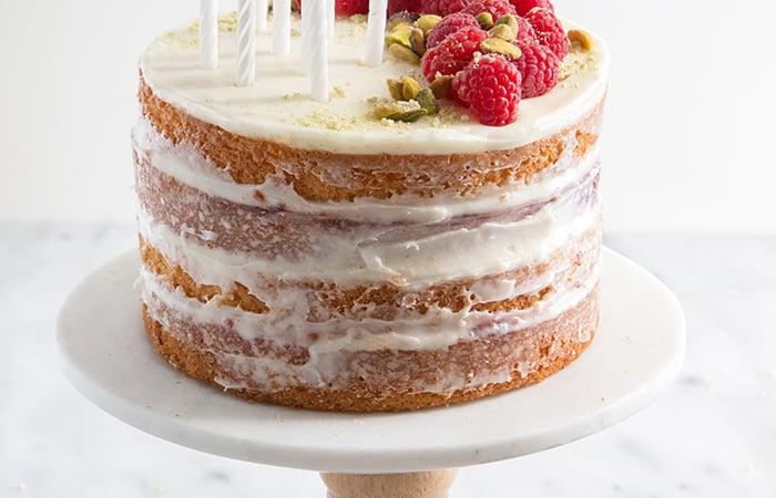 Coconut Raspberry Cake   the little epicurean