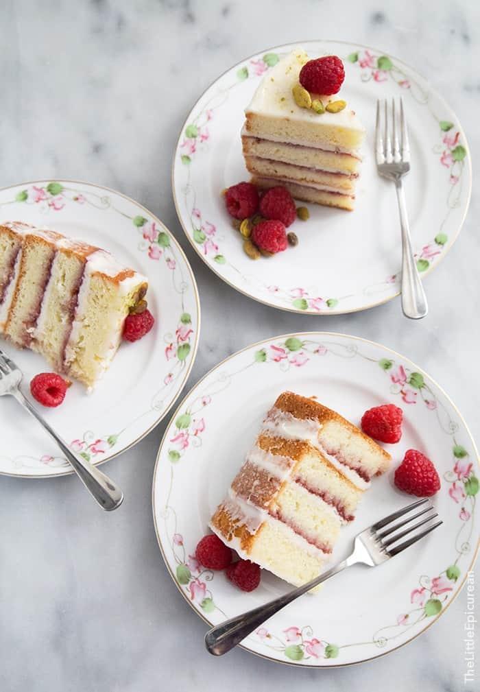 Coconut Raspberry Cake | the little epicurean