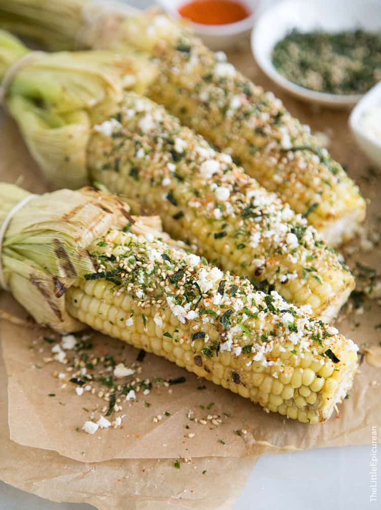 Roasted Corn with miso butter   the little epicurean