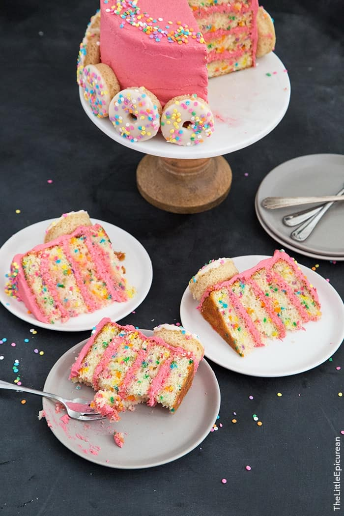 Funfetti Doughnut Cake The Little Epicurean