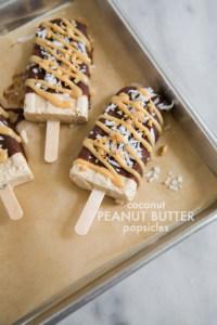Coconut Peanut Butter Popsicles | the little epicurean