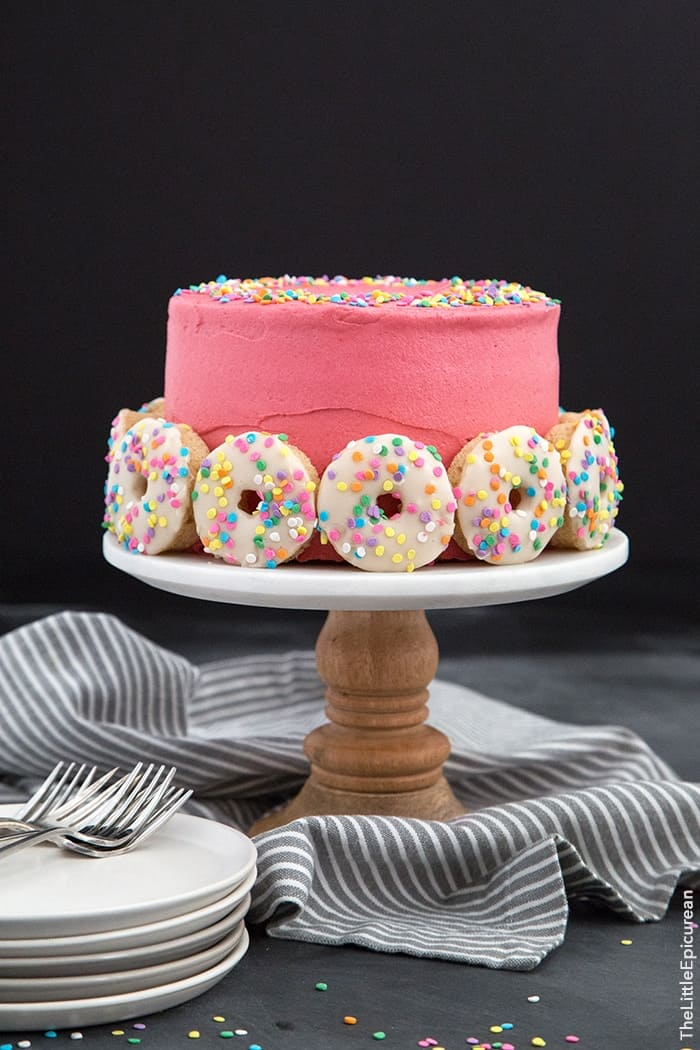 Super Funfetti Doughnut Cake The Little Epicurean Funny Birthday Cards Online Elaedamsfinfo