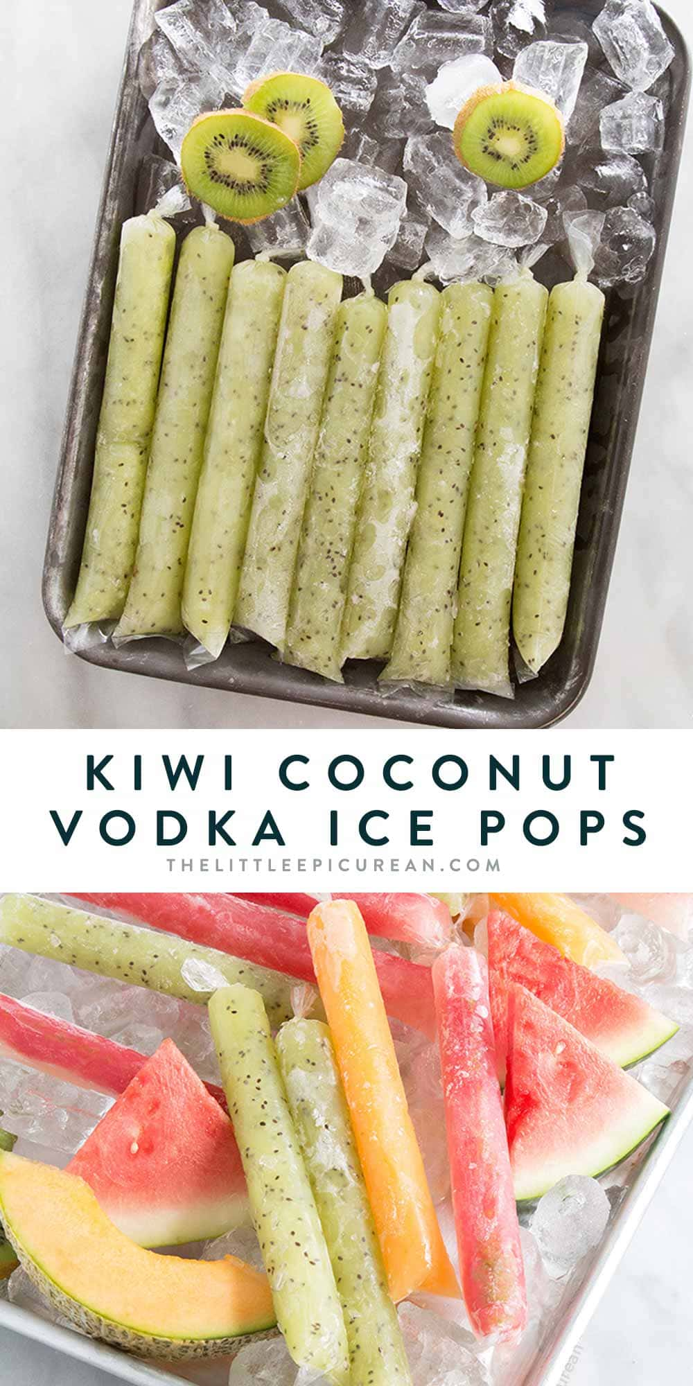 Kiwi Coconut Vodka Pops