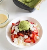 Matcha Ice Cream Shaved Ice | the little epicurean