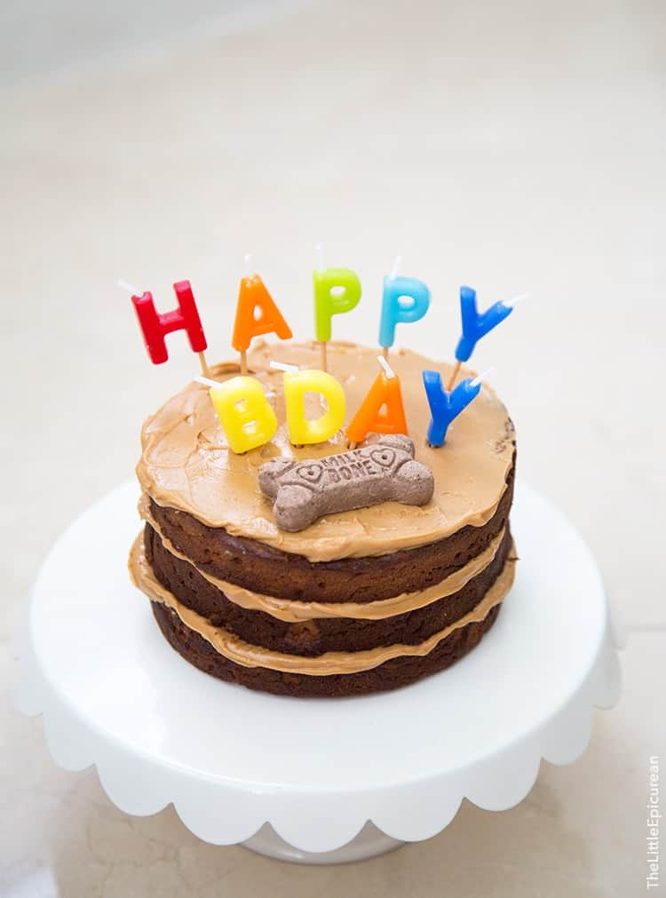 Cool Peanut Butter Apple Pupcake The Little Epicurean Personalised Birthday Cards Veneteletsinfo