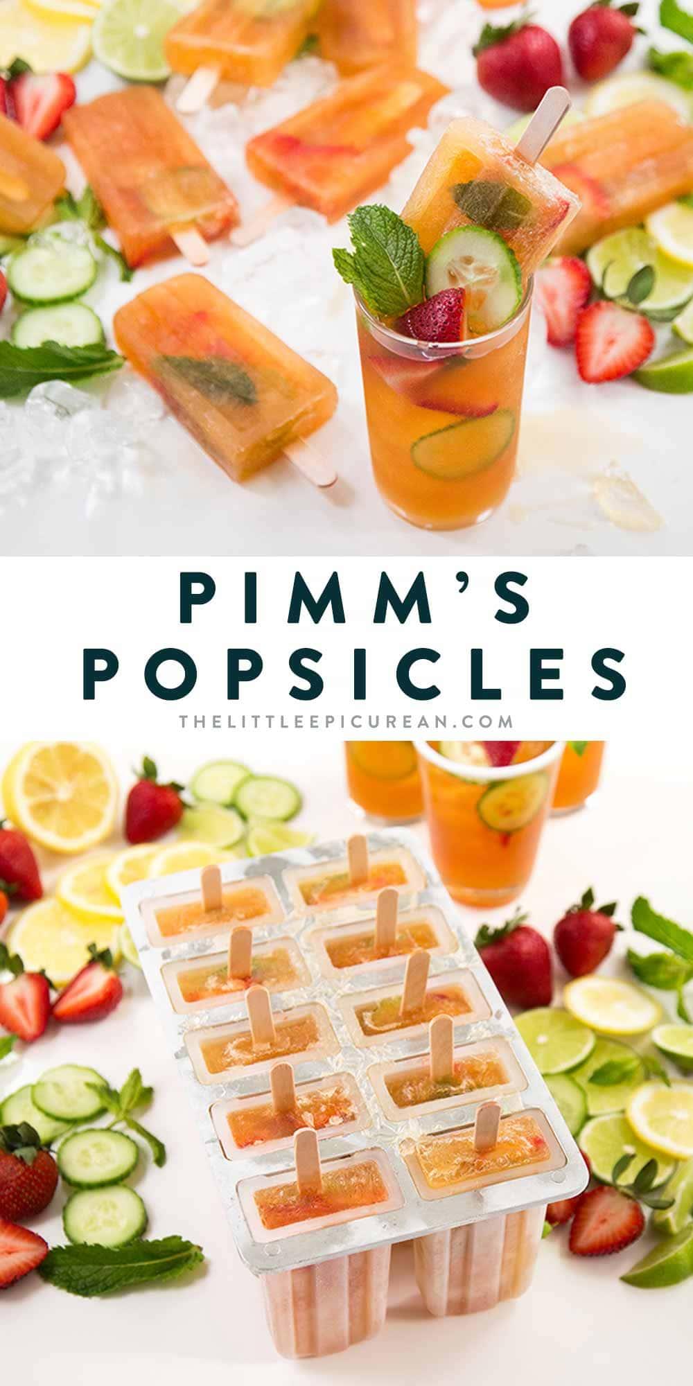 Pimm's Popsicles