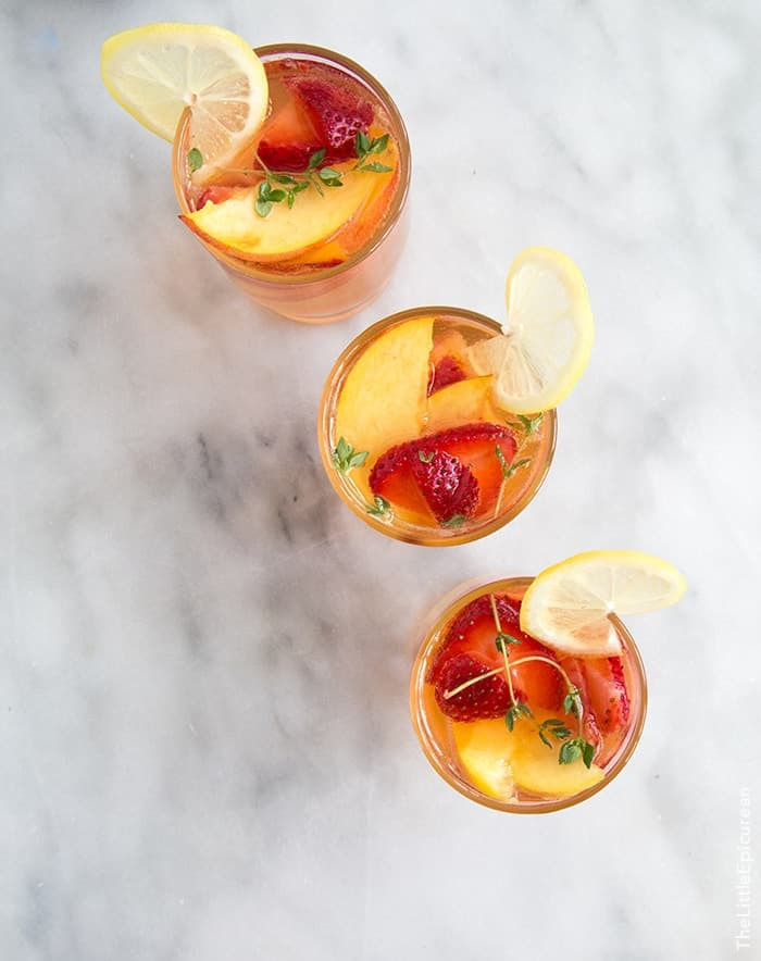 Strawberry Peach Sangria | the little epicurean