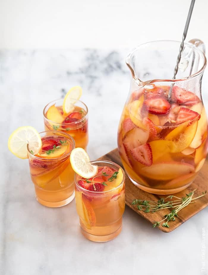 Strawberry Peach Sangria- The Little Epicurean