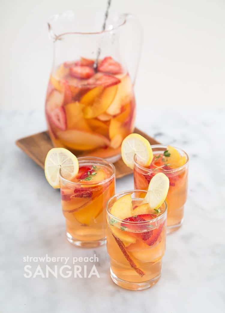 The Little Epicurean Strawberry Peach Sangria- The Little Epicurean