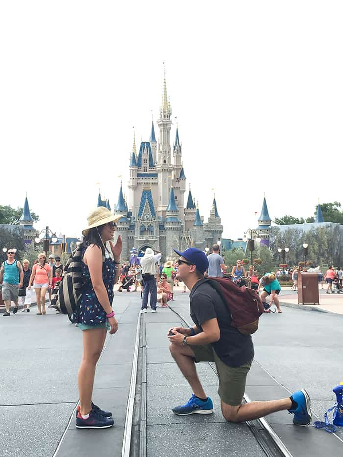 Strawberry Sorbet Bellini (+ a Disney World proposal)