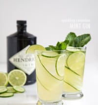Sparkling Cucumber Mint Gin | the little epicurean