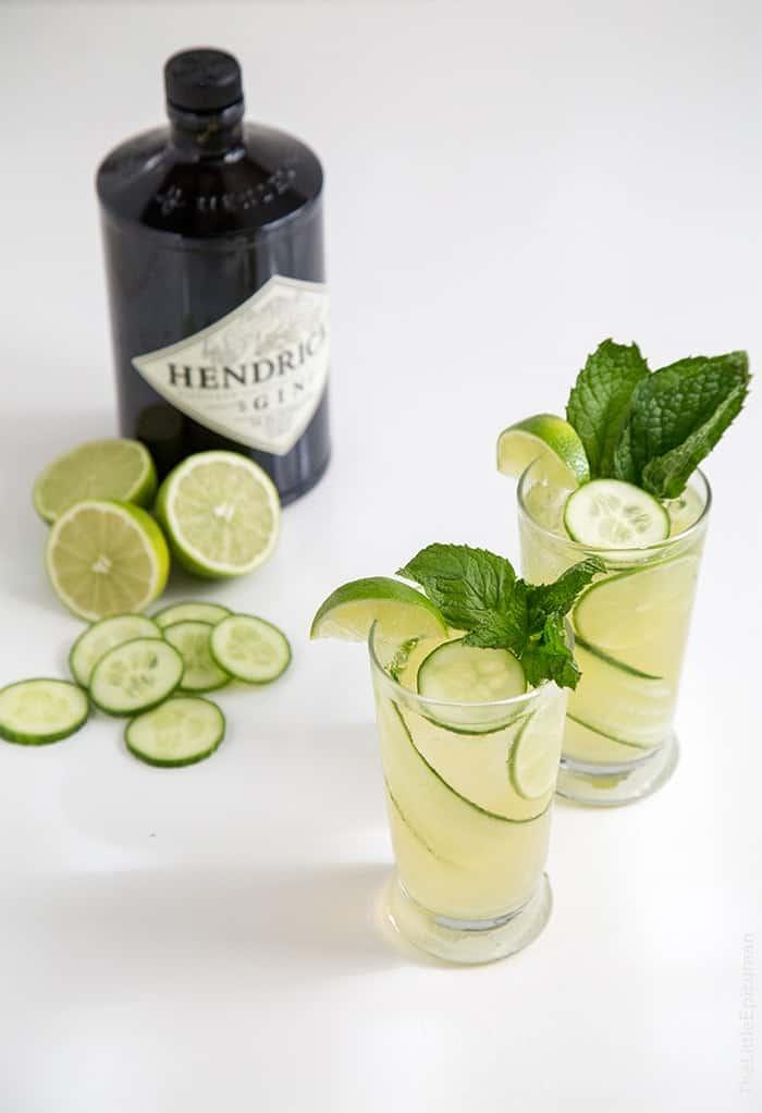 Sparkling Cucumber Mint Gin | the little epicurean