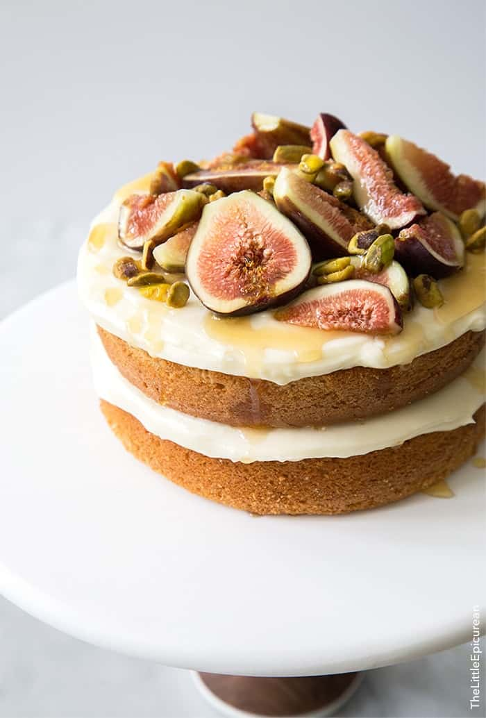 Honey Earl Grey Fig Cake The Little Epicurean