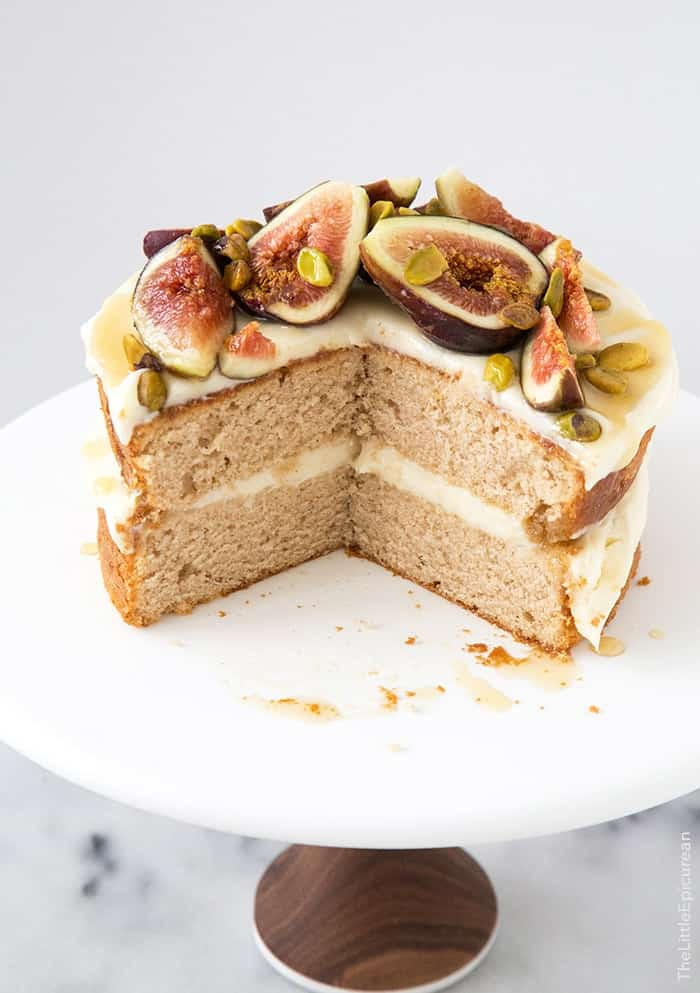 Honey Earl Grey Fig Cake | the little epicurean