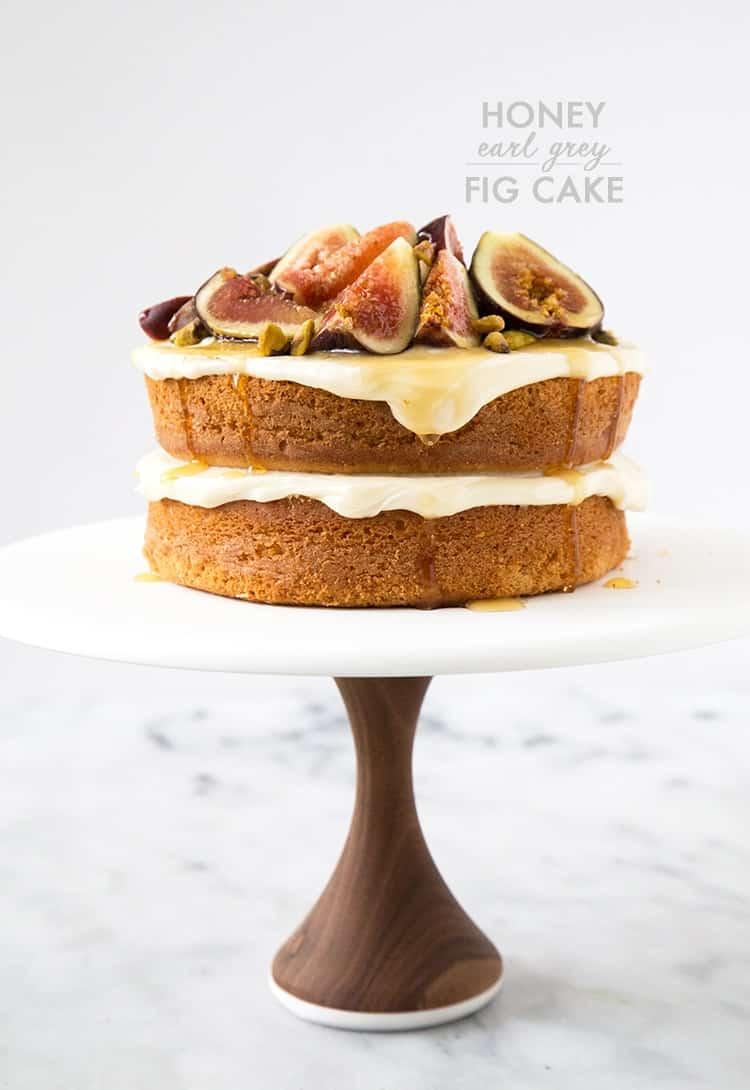 Honey Earl Grey Fig Cake   the little epicurean