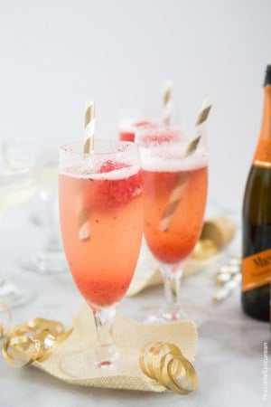 Strawberry Sorbet Bellini | the little epicurean