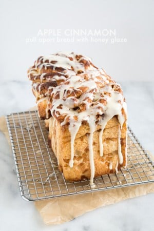 Apple Cinnamon Pull Apart Bread | the little epicurean