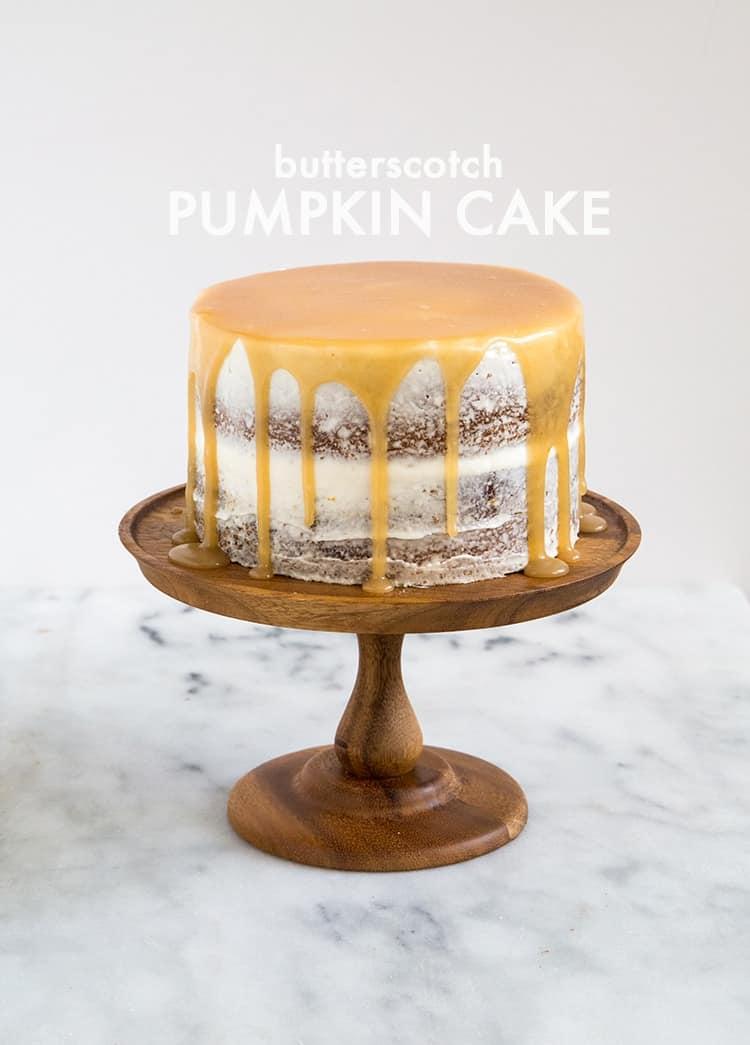 Butterscotch Pumpkin Cake | the little epicurean