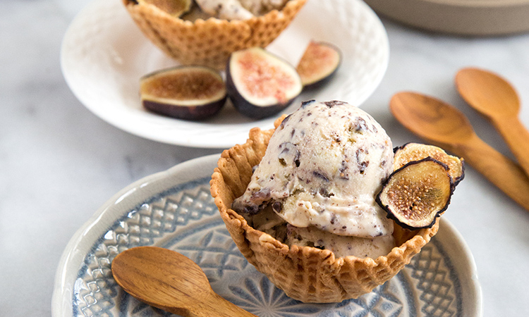 Caramelized Fig and Chocolate Chunk Ice Cream