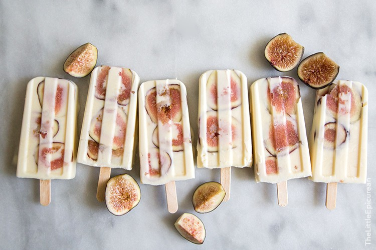 Whiskey Yogurt Fig Popsicles | the little epicurean