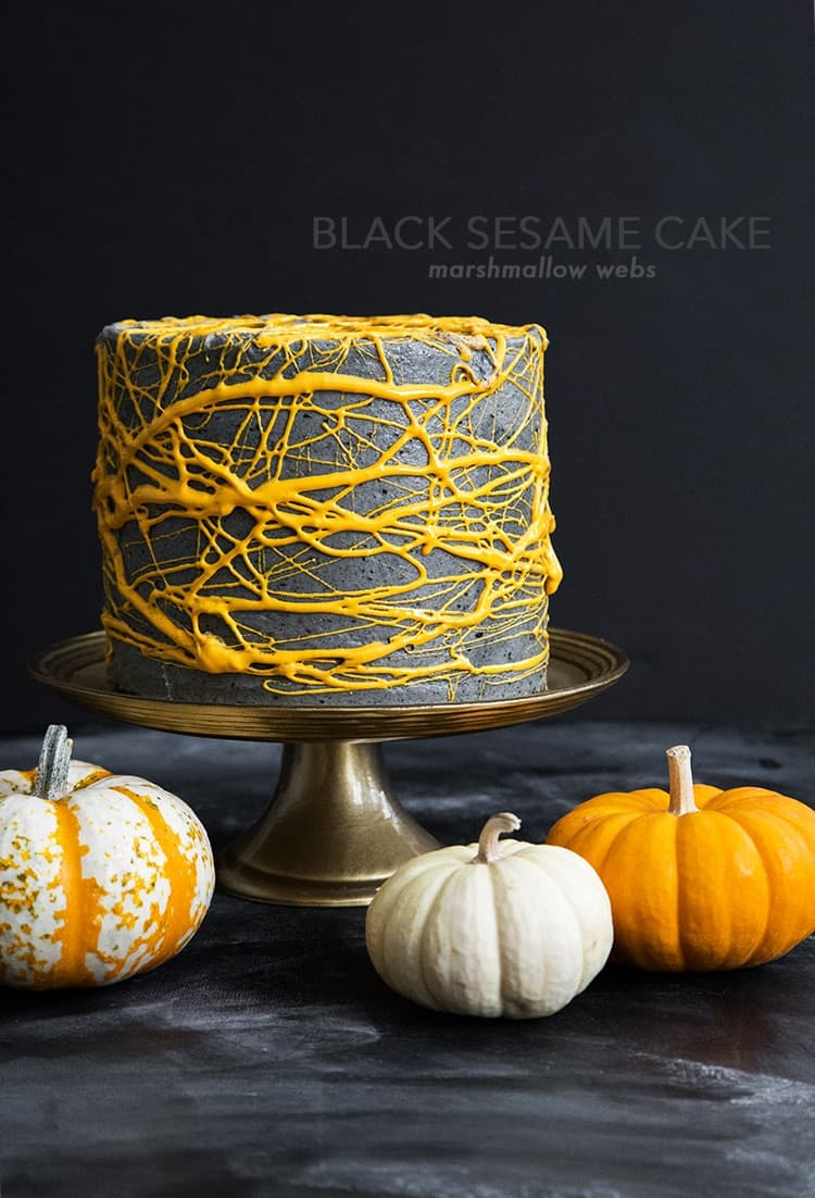 Halloween Black Sesame Cake-The Little Epicurean