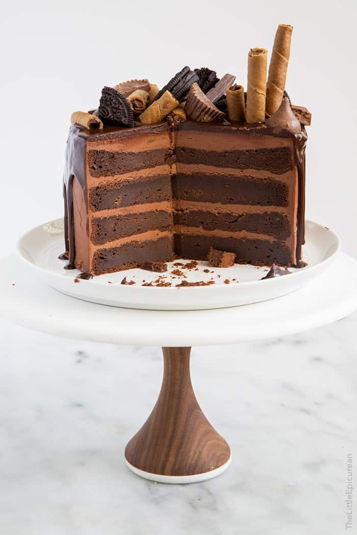 Cake Decorated With Chocolate Candy
