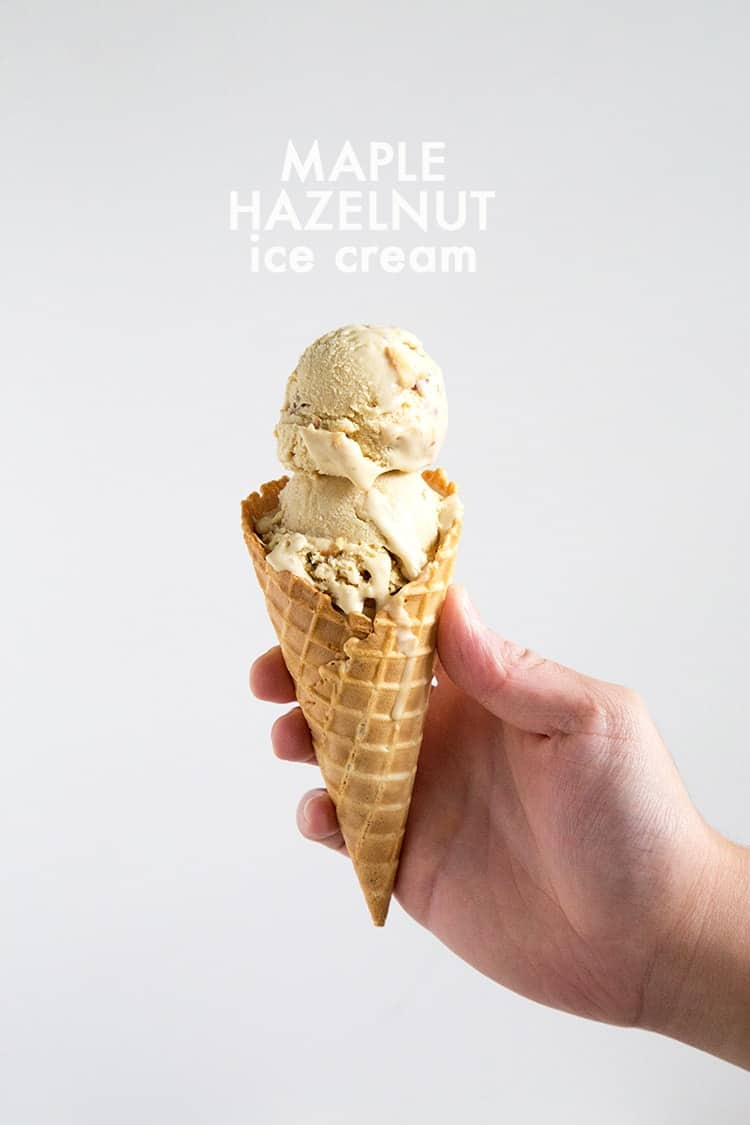 Maple Hazelnut Ice Cream