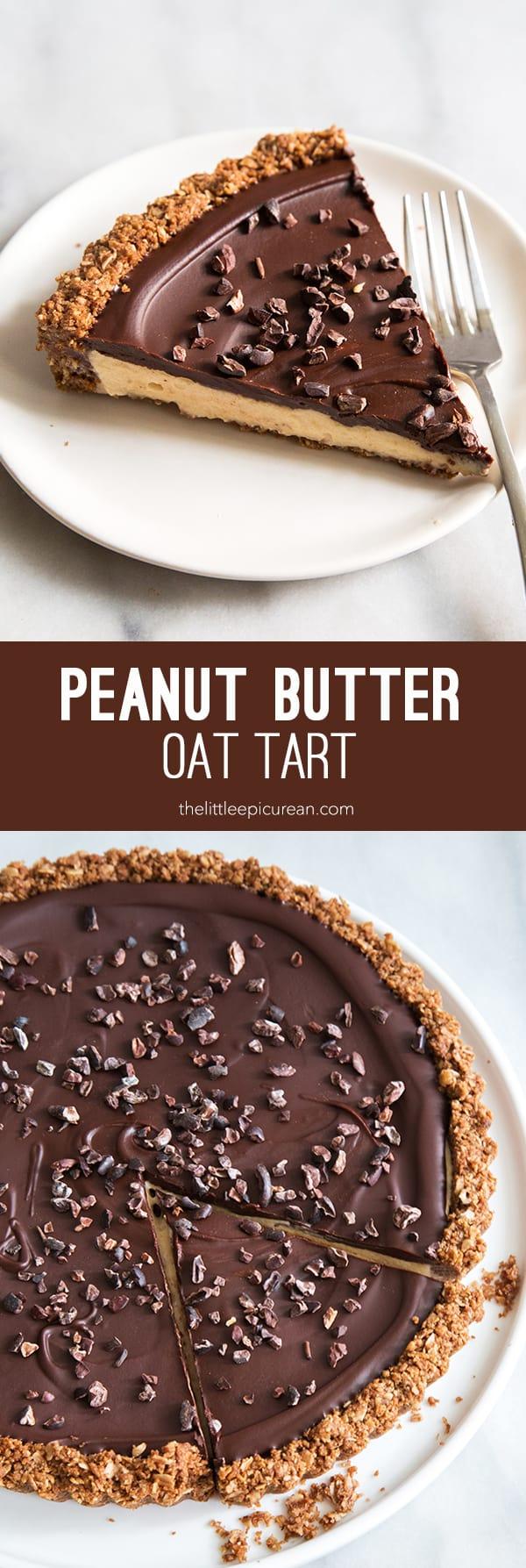 Peanut Butter Oat Tart