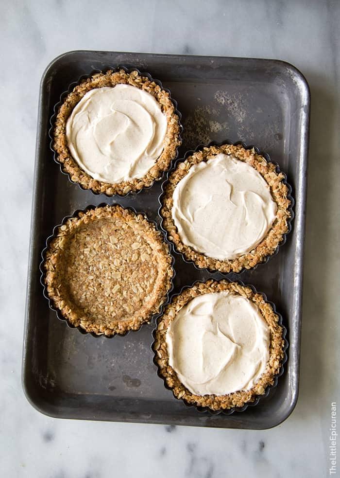 Brûléed Persimmon Tart with maple cinnamon cream cheese