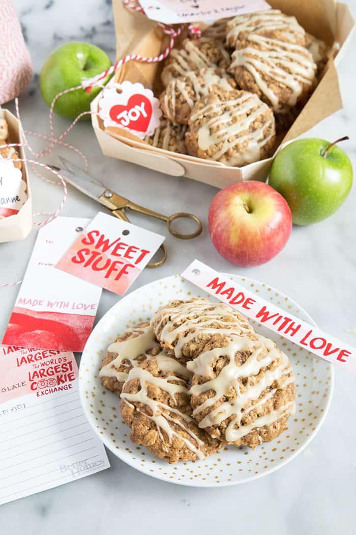 Apple Walnut Oatmeal Cookies- The Little Epicurean