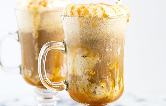 Boozy Maple Ice Cream Root Beer Floats