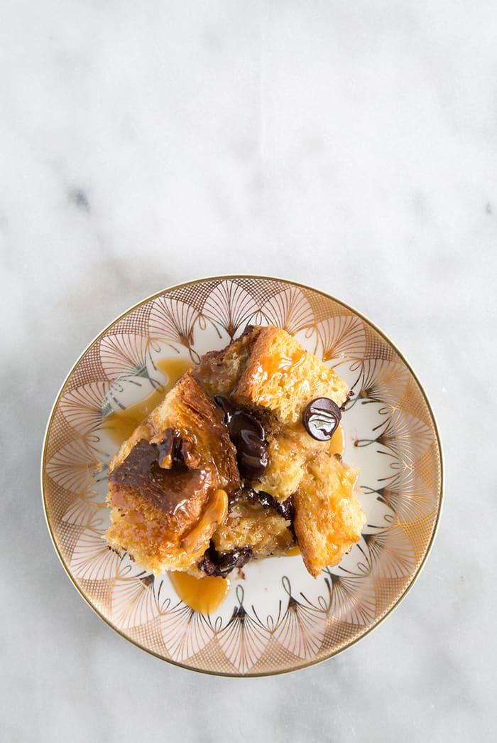 Walnut Chocolate Chip Bread Pudding