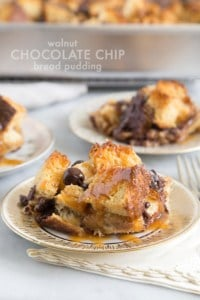 Walnut Chocolate Chip Bread Pudding