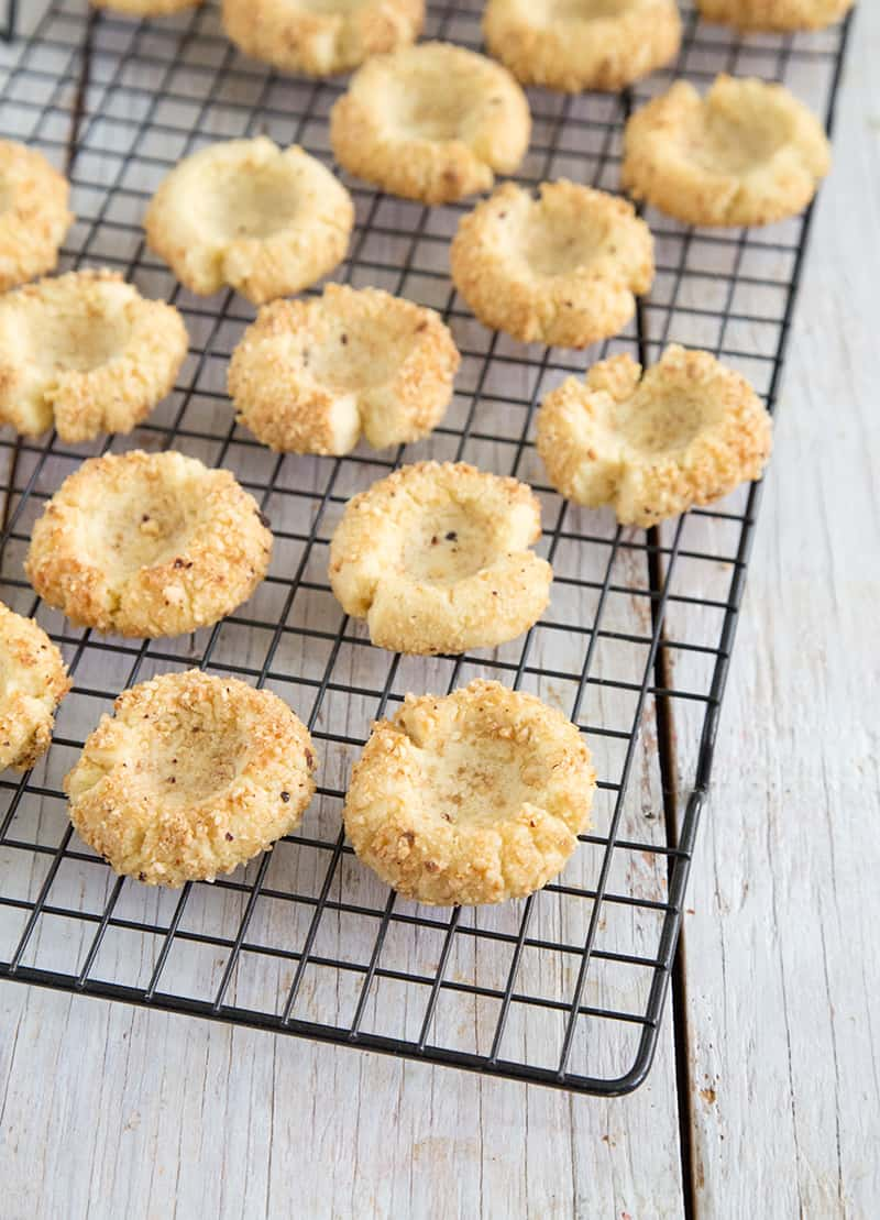 ... these chocolate hazelnut thumbprint cookies, I might have met Santa